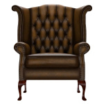 BYRON WINGCHAIR ANTIQUE GOLD