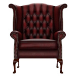 BYRON WINGCHAIR ANTIQUE RED