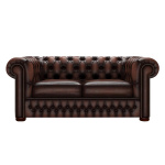 CHESTERFIELD CLASSIC 2-SITS ANTIQUE BROWN