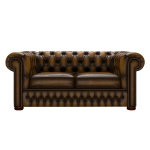 CHESTERFIELD CLASSIC 2-SITS ANTIQUE GOLD