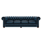 CHESTERFIELD CLASSIC 4-SITS ANTIQUE BLUE