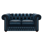 SHACKLETON CHESTERFIELD 2-SITS ANTIQUE BLUE