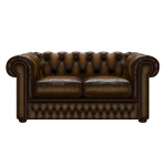 SHACKLETON CHESTERFIELD 2-SITS ANTIQUE GOLD