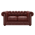 SHACKLETON CHESTERFIELD 2-SITS OLD ENGLISH CHESTNUT