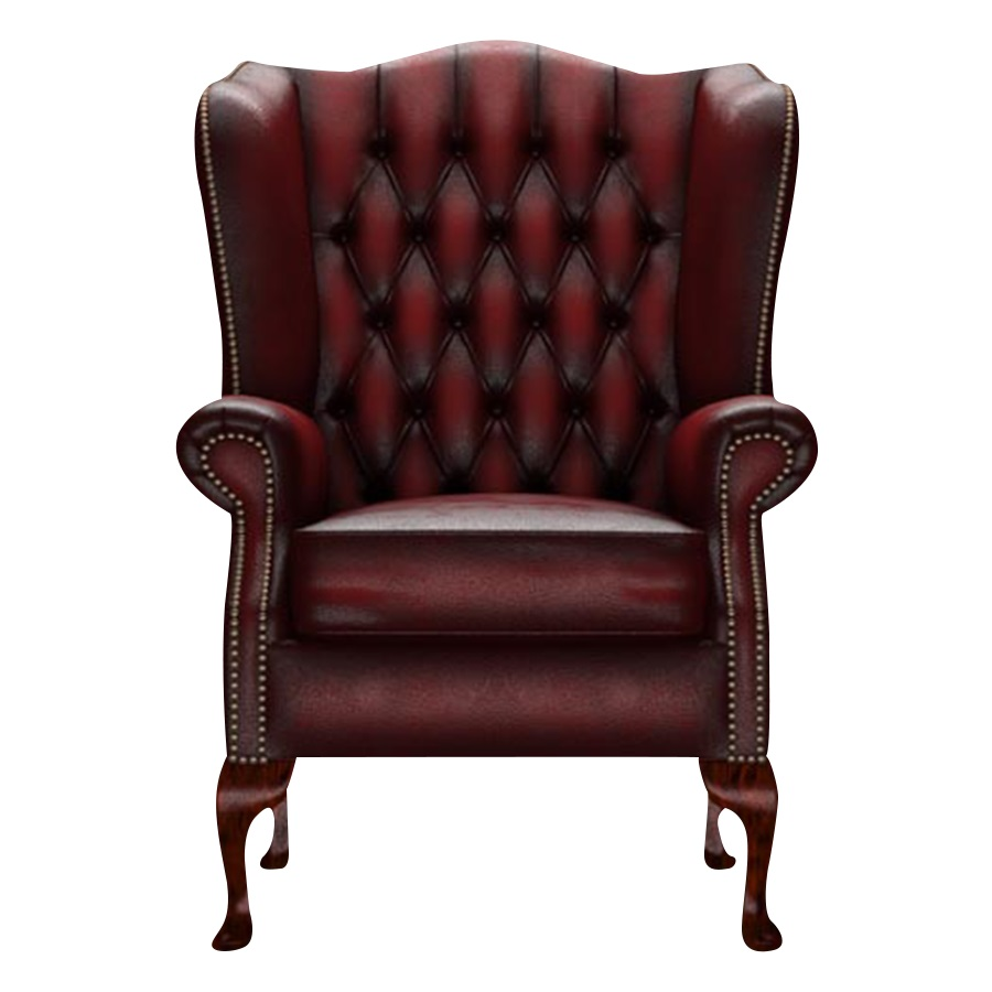 WINGCHAIR GLADSTONE ANTIQUE RED i gruppen Chesterfield / Chesterfield fåtöljer hos HolyHome (1-ARED-GLAD)