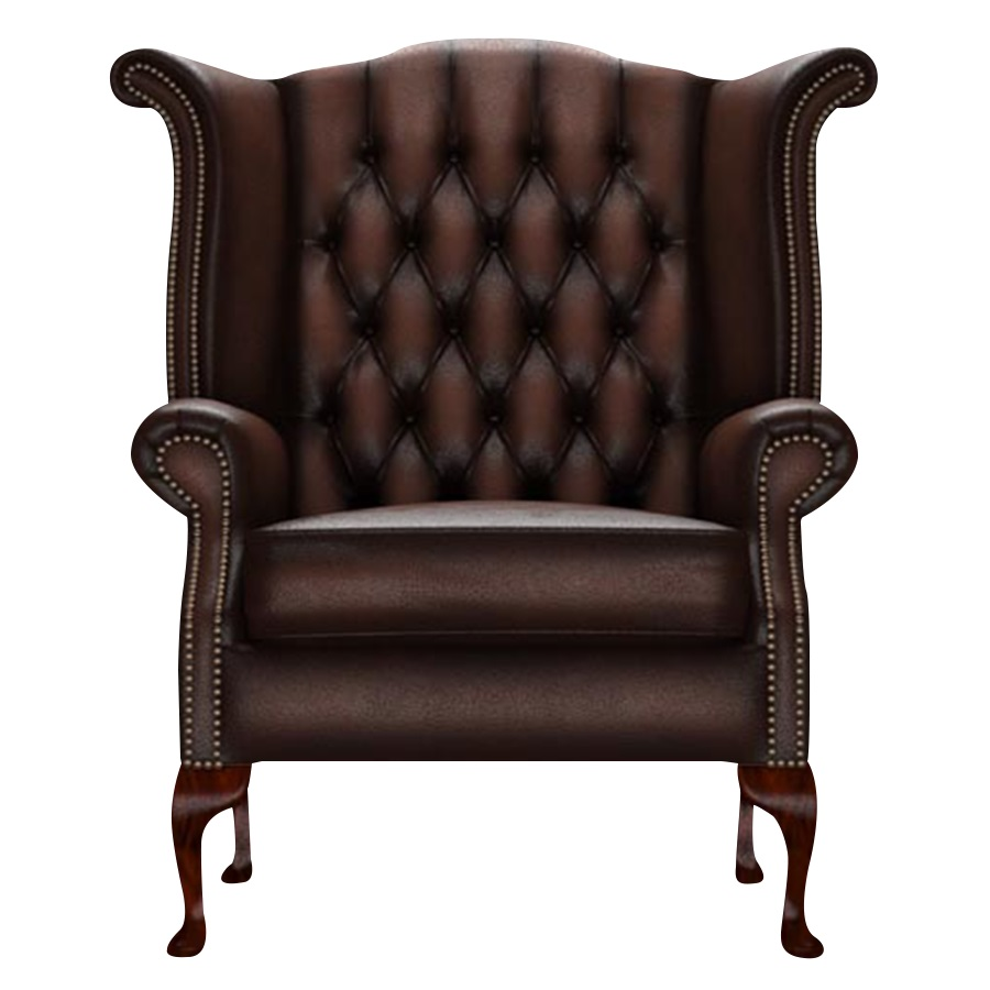 BYRON WINGCHAIR ANTIQUE BROWN i gruppen  hos HolyHome (Byron1A-Brown)