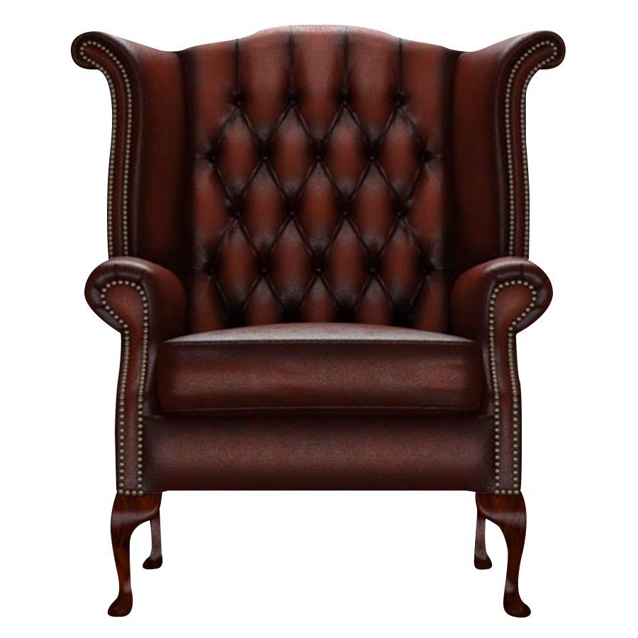 BYRON WINGCHAIR ANTIQUE CHESTNUT i gruppen Chesterfield / Chesterfield fåtöljer hos HolyHome (Byron1A-Chestnut)
