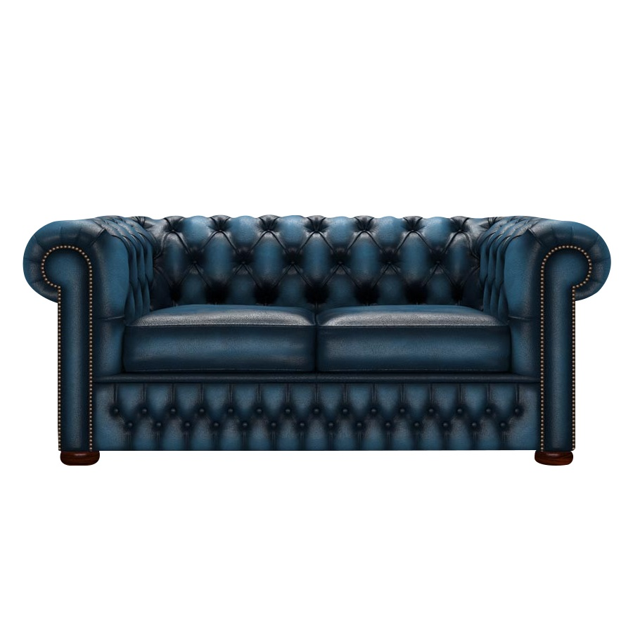 CHESTERFIELD CLASSIC 2-SITS ANTIQUE BLUE i gruppen Chesterfield / Chesterfield soffor 2-sits hos HolyHome (Chest2A-Blue)