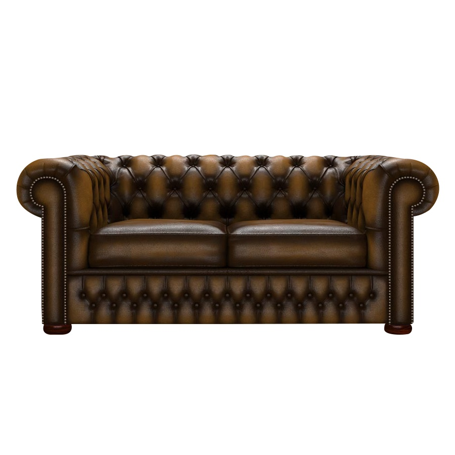 CHESTERFIELD CLASSIC 2-SITS ANTIQUE GOLD i gruppen  hos HolyHome (Chest2A-Gold)
