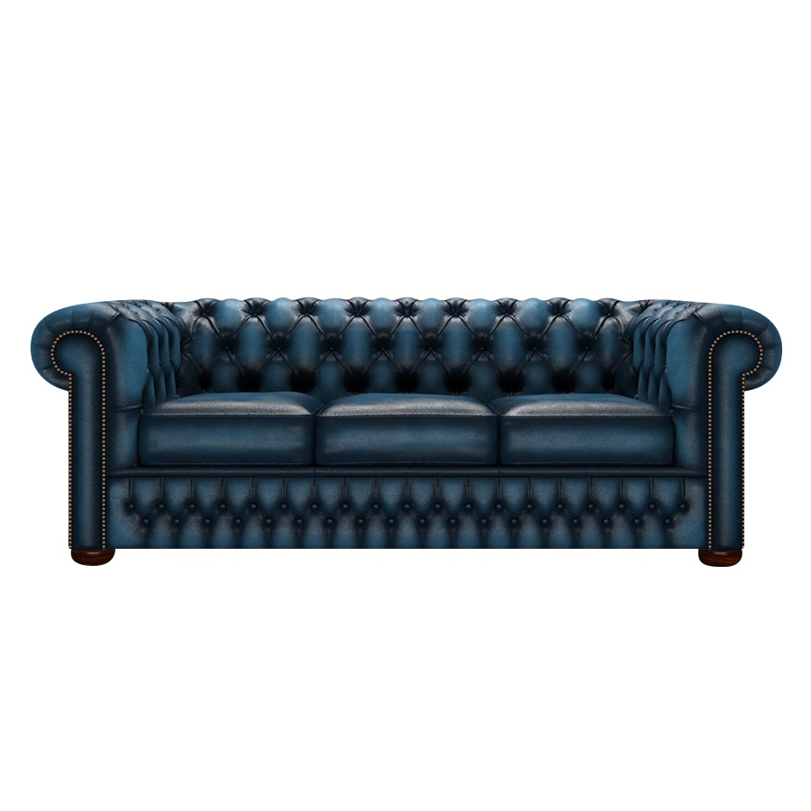 CHESTERFIELD CLASSIC 3-SITS ANTIQUE BLUE i gruppen  hos HolyHome (Chest3A-Blue)