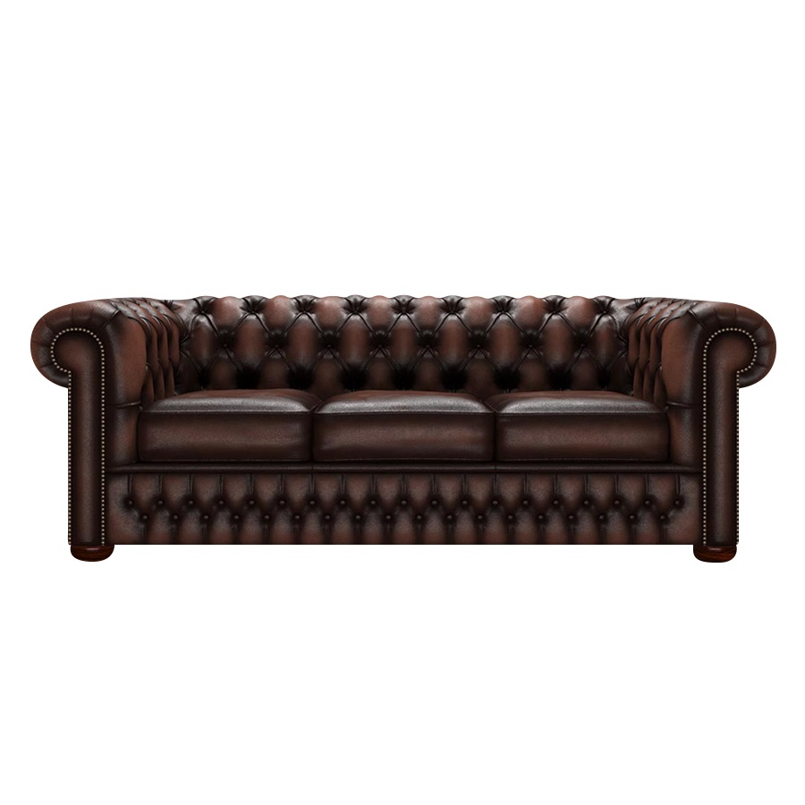 CHESTERFIELD CLASSIC 3-SITS ANTIQUE BROWN i gruppen BLACK WEEK hos HolyHome (Chest3A-Brown)