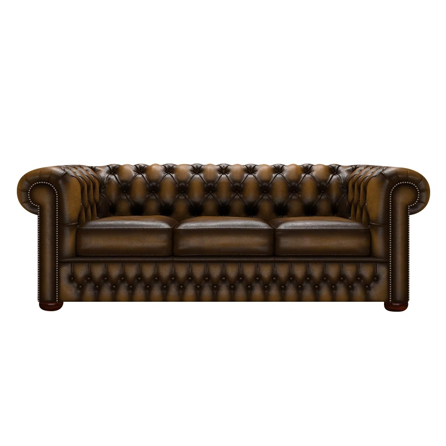 CHESTERFIELD CLASSIC 3-SITS ANTIQUE GOLD i gruppen  hos HolyHome (Chest3A-Gold)