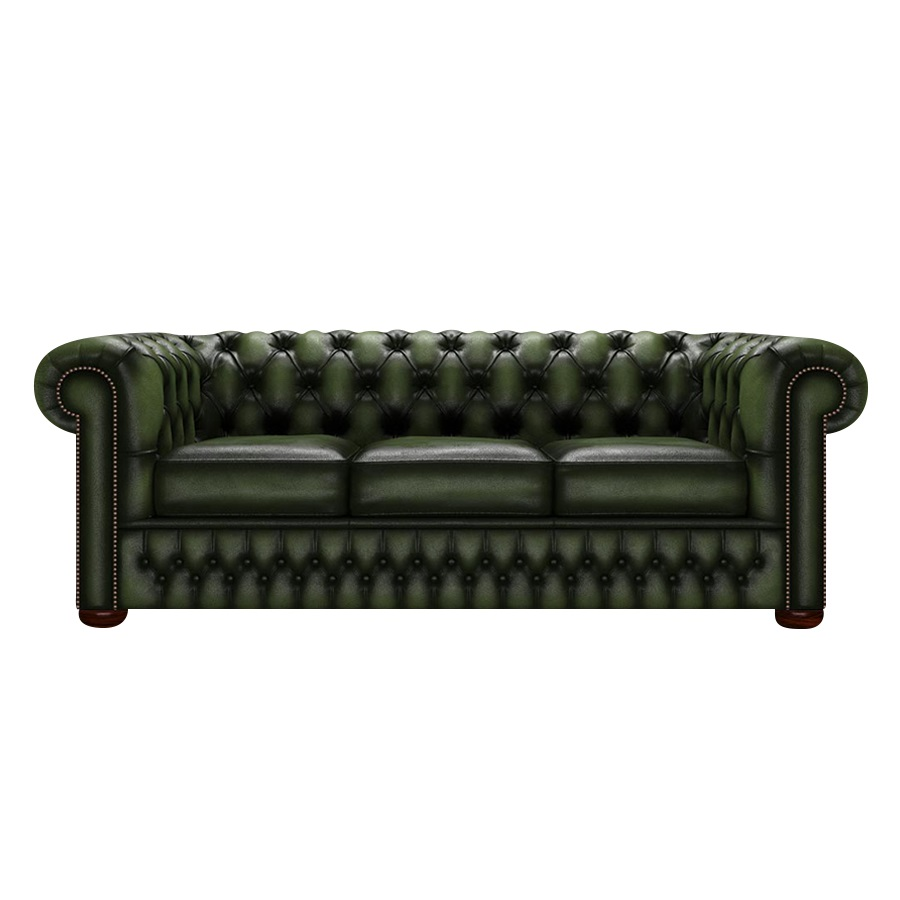 CHESTERFIELD CLASSIC 3-SITS ANTIQUE GREEN i gruppen  hos HolyHome (Chest3A-Green)