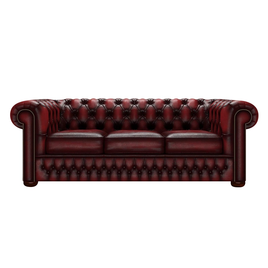 CHESTERFIELD CLASSIC 3-SITS ANTIQUE RED i gruppen Chesterfield / Chesterfield soffor 3- och 4-sits  hos HolyHome (Chest3A-Red)