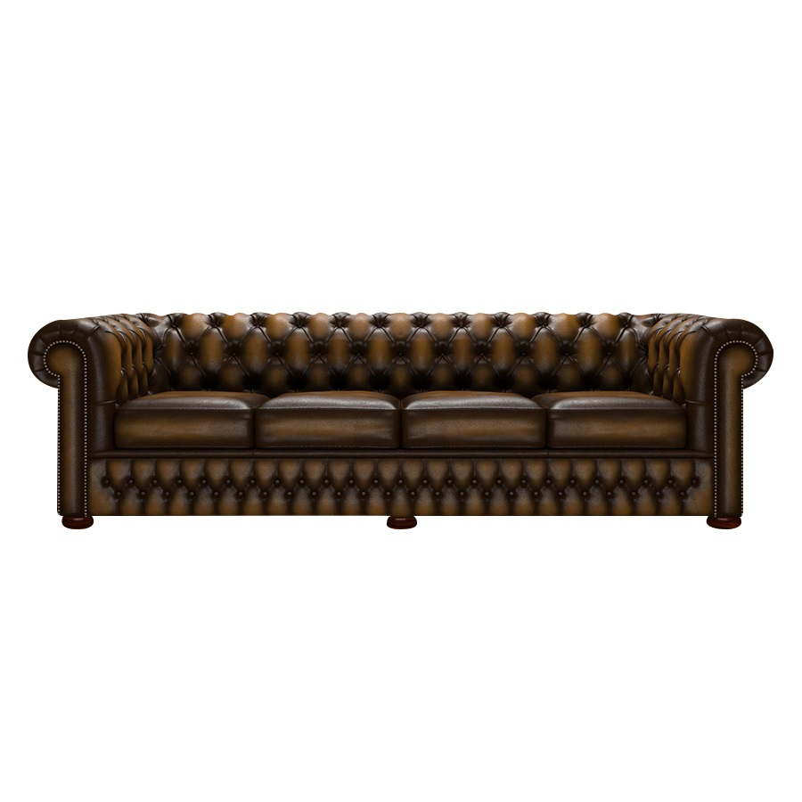 CHESTERFIELD CLASSIC 4-SITS ANTIQUE GOLD i gruppen  hos HolyHome (Chest4A-Gold)