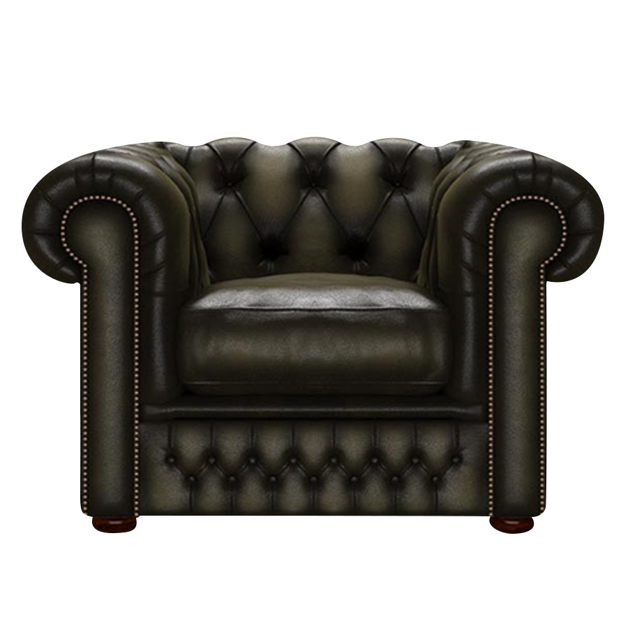 SHACKLETON CHESTERFIELD FÅTÖLJ ANTIQUE OLIVE i gruppen Chesterfield / Chesterfield fåtöljer hos HolyHome (Shack1A-Olive)