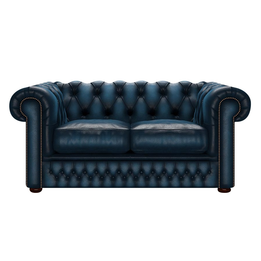 SHACKLETON CHESTERFIELD 2-SITS ANTIQUE BLUE i gruppen  hos HolyHome (Shack2A-Blue)