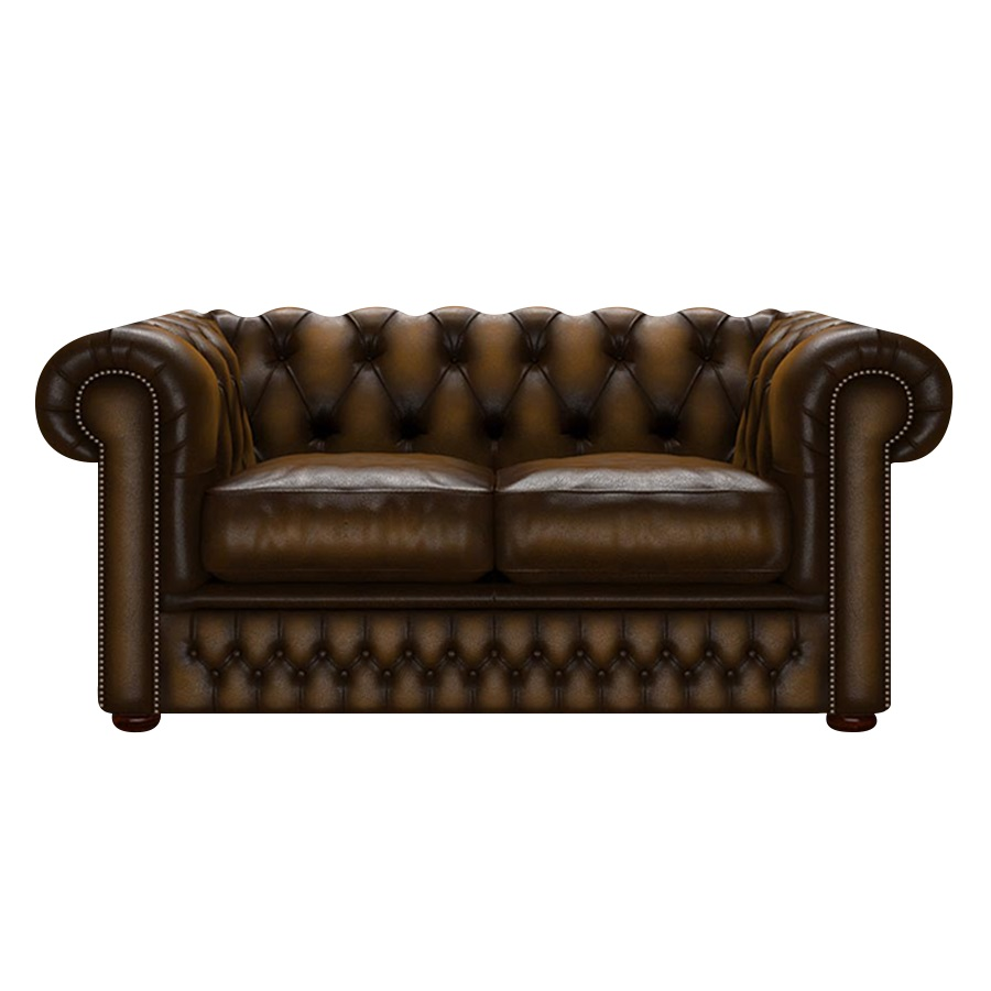 SHACKLETON CHESTERFIELD 2-SITS ANTIQUE GOLD i gruppen  hos HolyHome (Shack2A-Gold)