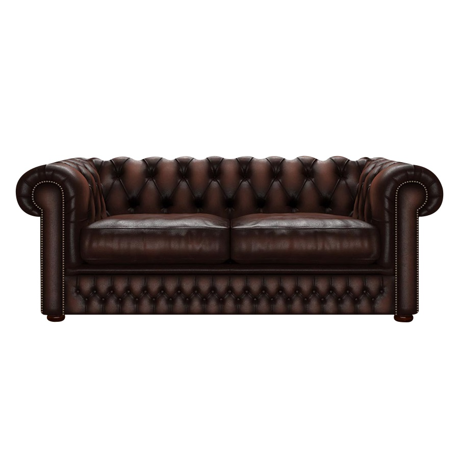 SHACKLETON CHESTERFIELD 3-SITS ANTIQUE BROWN i gruppen Chesterfield / Chesterfield soffor 3- och 4-sits  hos HolyHome (Shack3A-Brown)