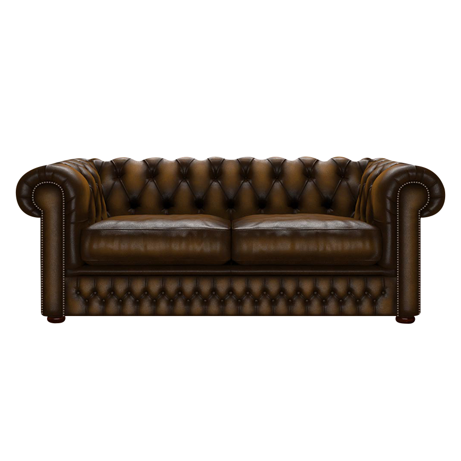 SHACKLETON CHESTERFIELD 3-SITS ANTIQUE GOLD i gruppen  hos HolyHome (Shack3A-Gold)