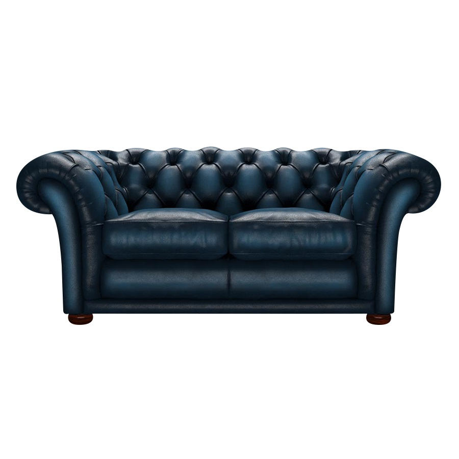SHAKESPEARE CHESTERFIELD 2-SITS ANTIQUE BLUE i gruppen  hos HolyHome (Shake2A-Blue)