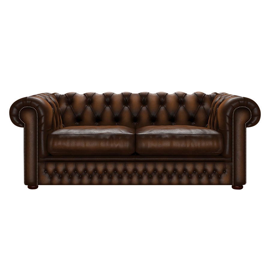 Shackleton Chesterfield 3-sits Antique Autumn Tan