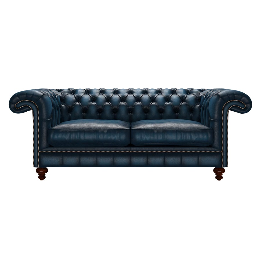 ALLINGHAM CHESTERFIELD 3-SITS ANTIQUE BLUE