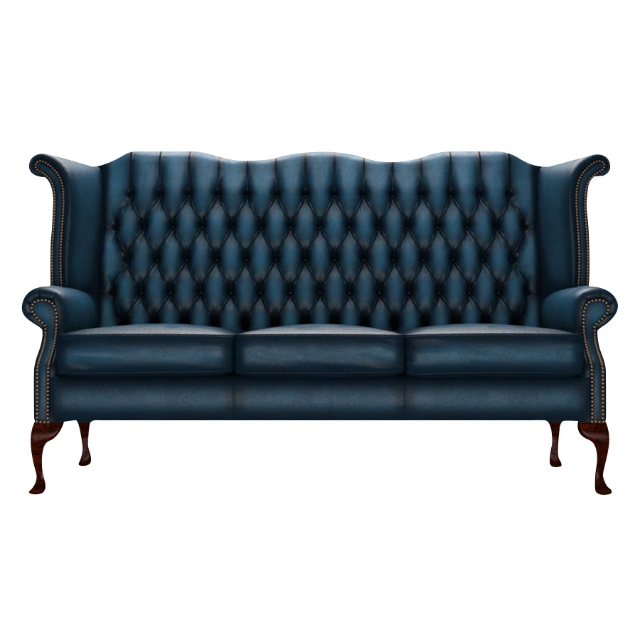 BYRON CHESTERFIELD 3-SITS ANTIQUE BLUE
