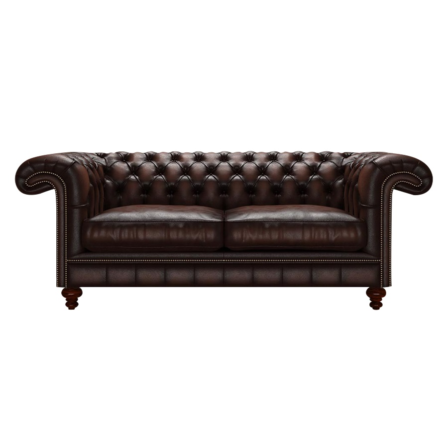 ALLINGHAM CHESTERFIELD 3-SITS ANTIQUE BROWN