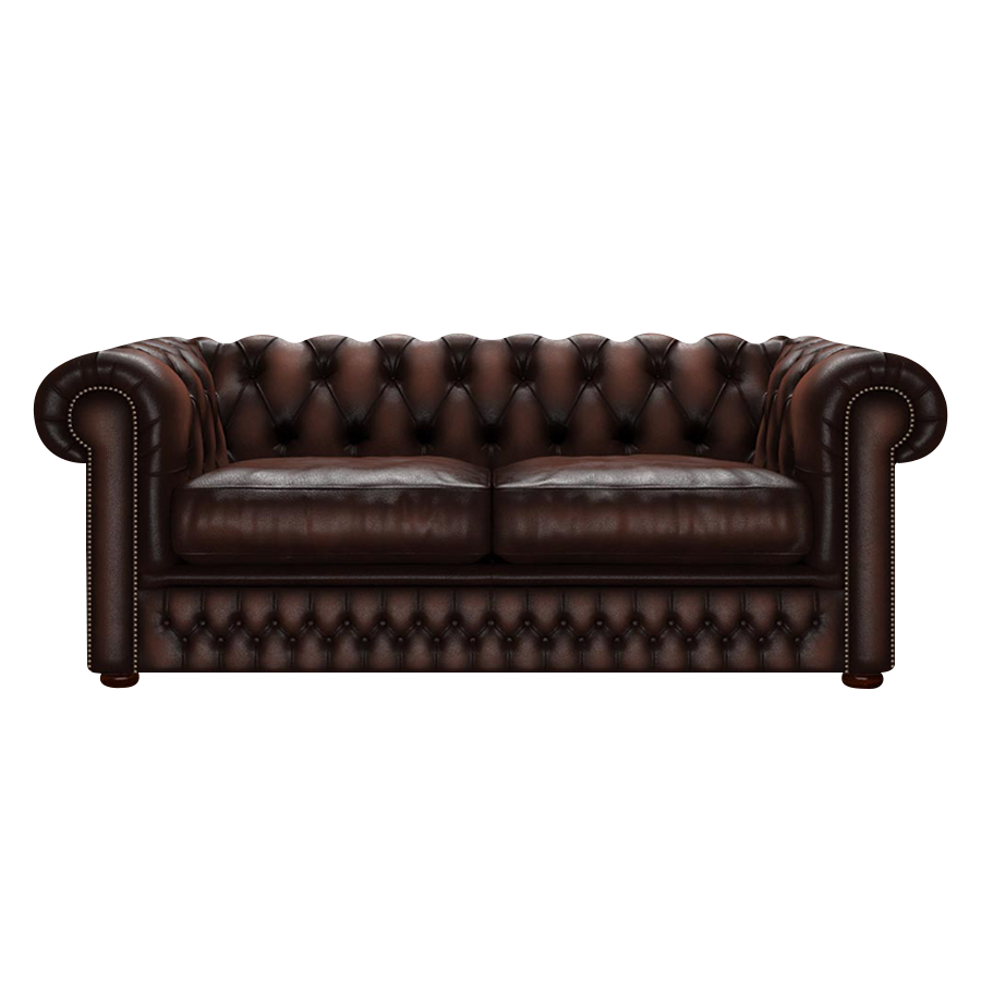 Shackleton Chesterfield 3-sits Antique Brown