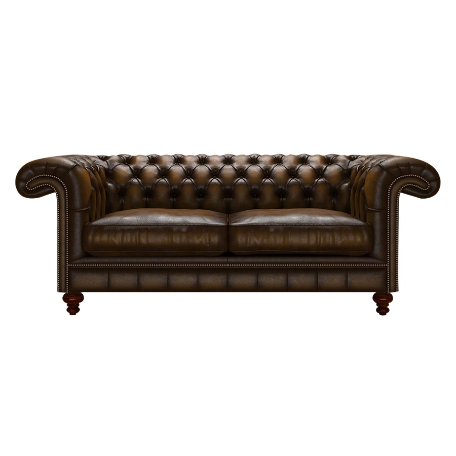 ALLINGHAM CHESTERFIELD 3-SITS ANTIQUE GOLD