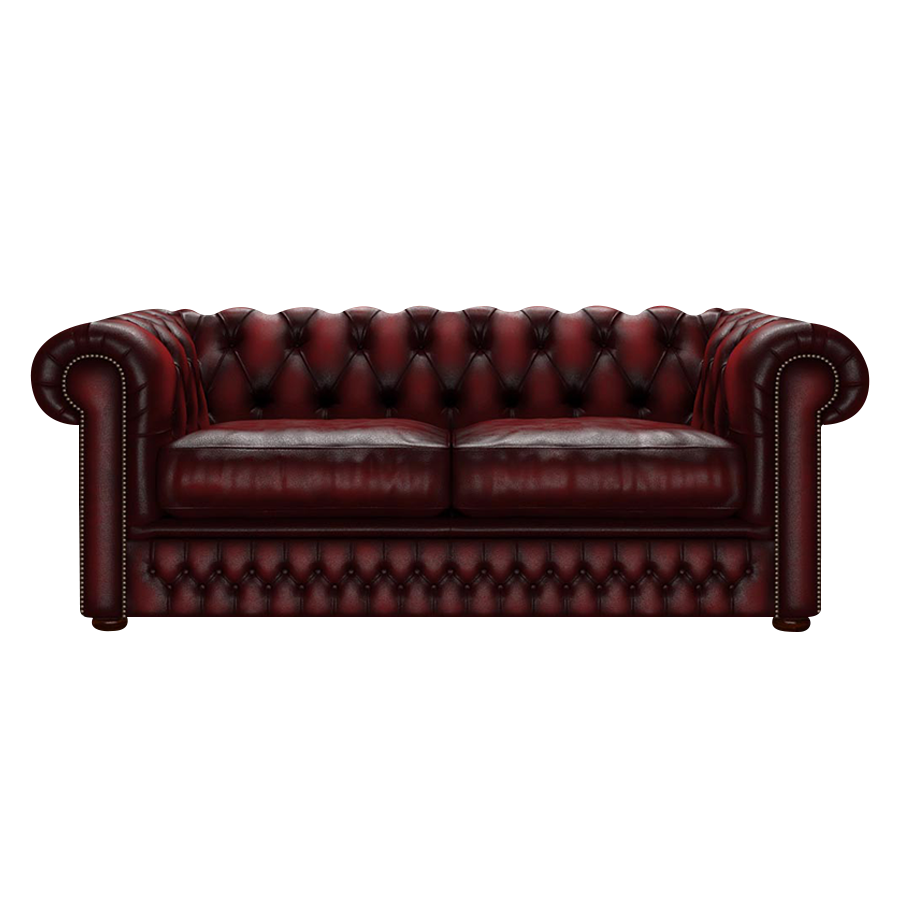 Shackleton Chesterfield 3-sits Antique Red