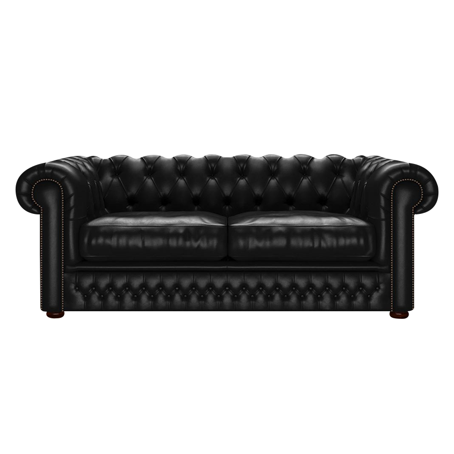 Shackleton Chesterfield 3-sits Old English Black