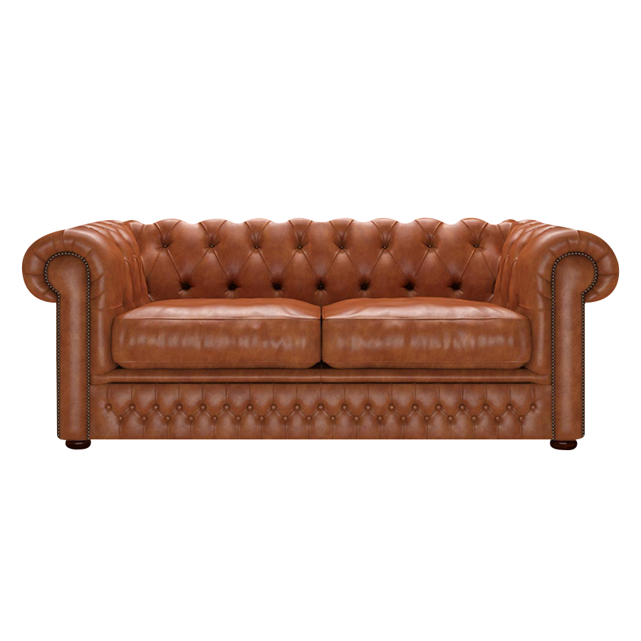 Shackleton Chesterfield 3-sits Old English Bruciato