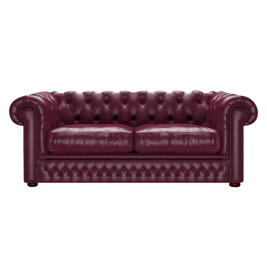 Shackleton Chesterfield 3-sits Old English Burgundy