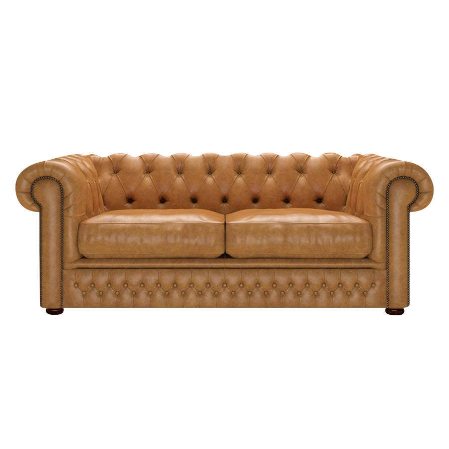 Shackleton Chesterfield 3-sits Old English Buckskin