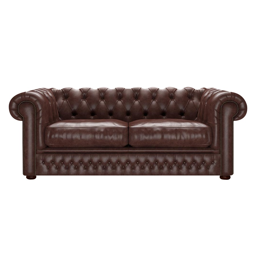Shackleton Chesterfield 3-sits Old English Dark Brown