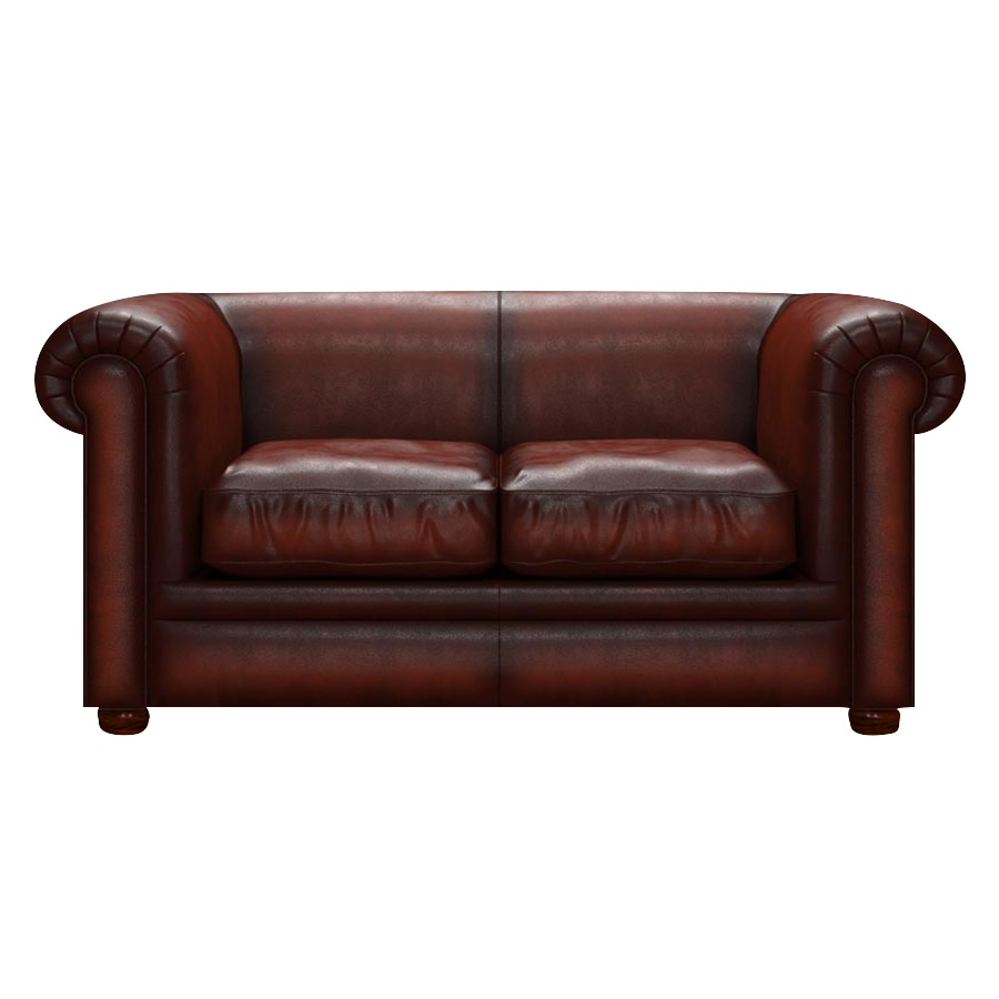 AUSTEN CHESTERFIELD 2-SITS ANTIQUE CHESTNUT