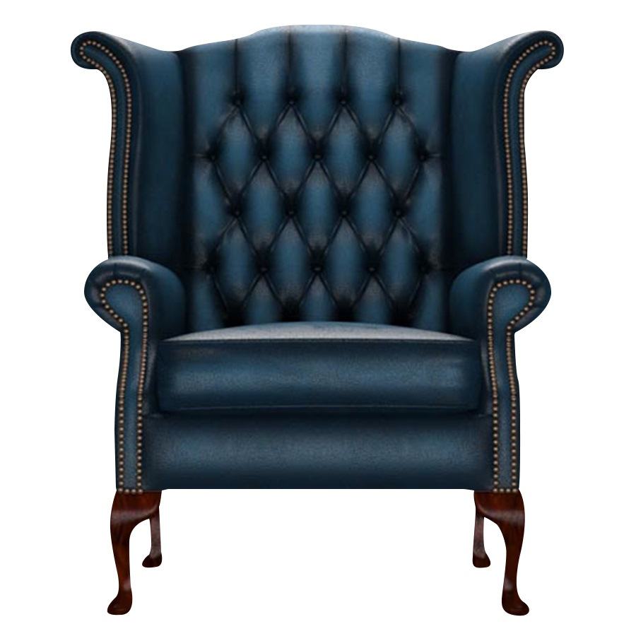 BYRON WINGCHAIR ANTIQUE BLUE