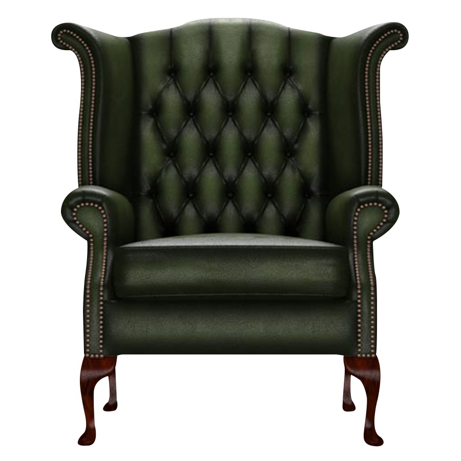 BYRON WINGCHAIR ANTIQUE GREEN
