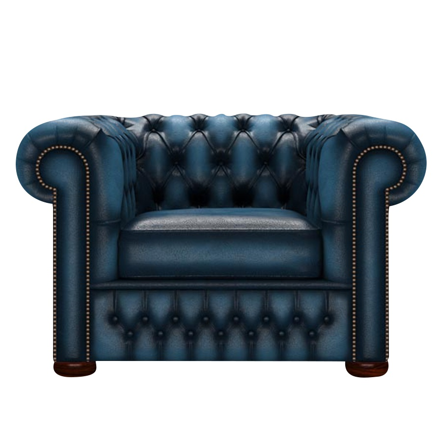 CHESTERFIELD CLASSIC FÅTÖLJ ANTIQUE BLUE