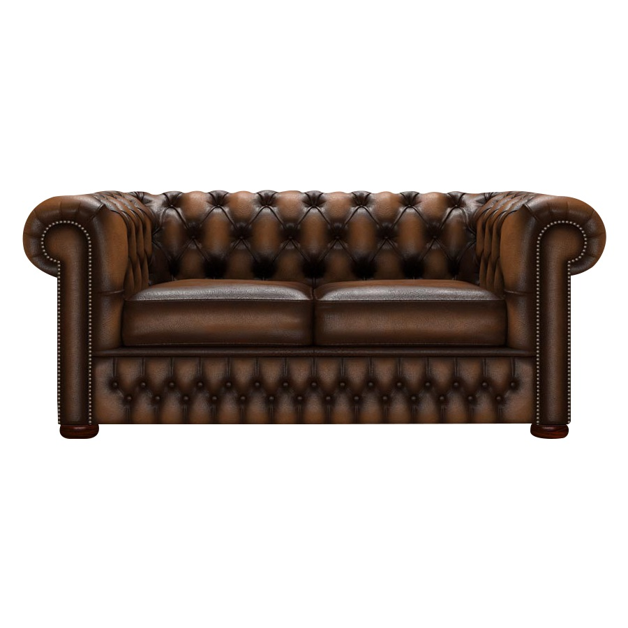 CHESTERFIELD CLASSIC 2-SITS ANTIQUE AUTUMN TAN