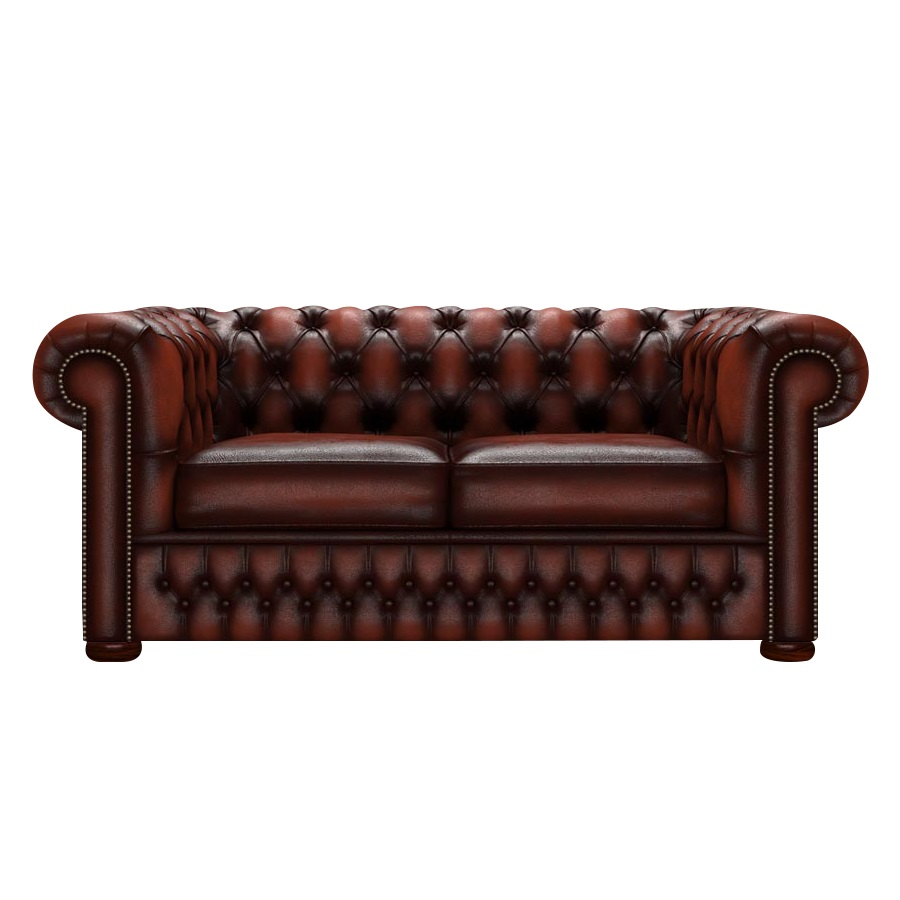 CHESTERFIELD CLASSIC 2-SITS ANTIQUE CHESTNUT