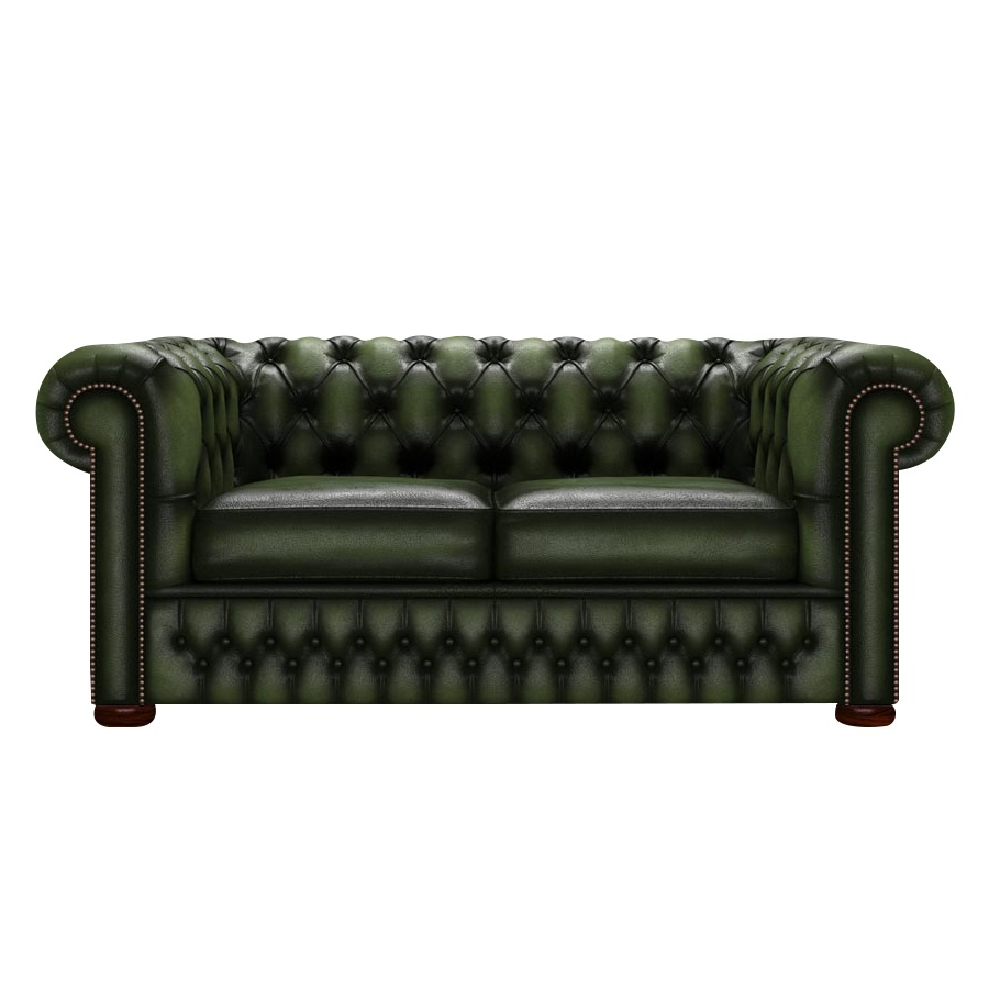 CHESTERFIELD CLASSIC 2-SITS ANTIQUE GREEN