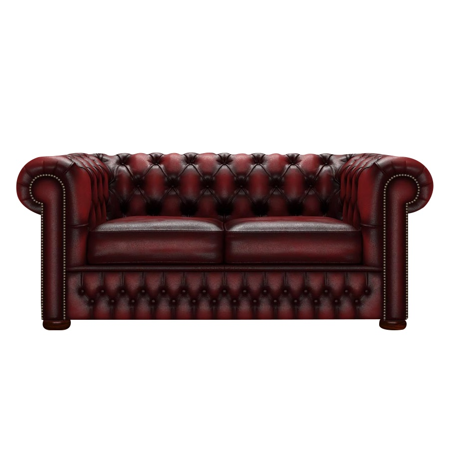 CHESTERFIELD CLASSIC 2-SITS ANTIQUE RED