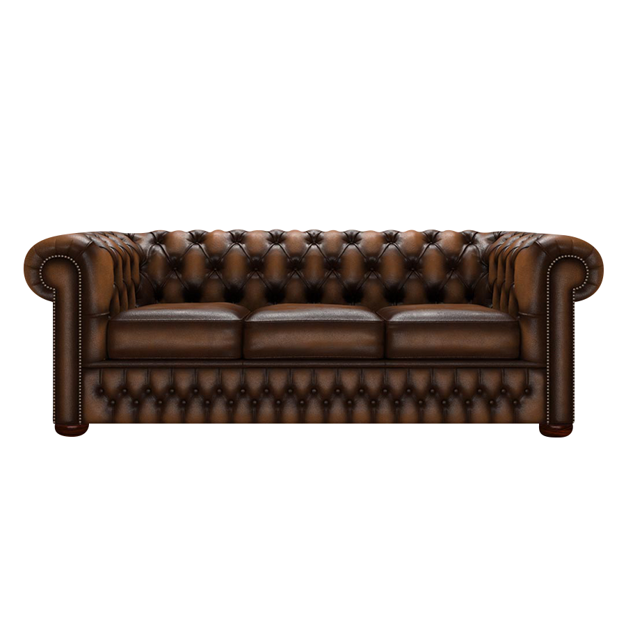 CHESTERFIELD CLASSIC 3-SITS ANTIQUE AUTUMN TAN