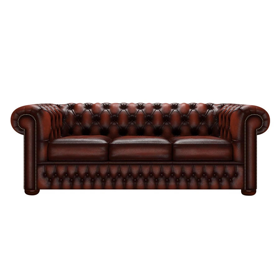 CHESTERFIELD CLASSIC 3-SITS ANTIQUE CHESTNUT
