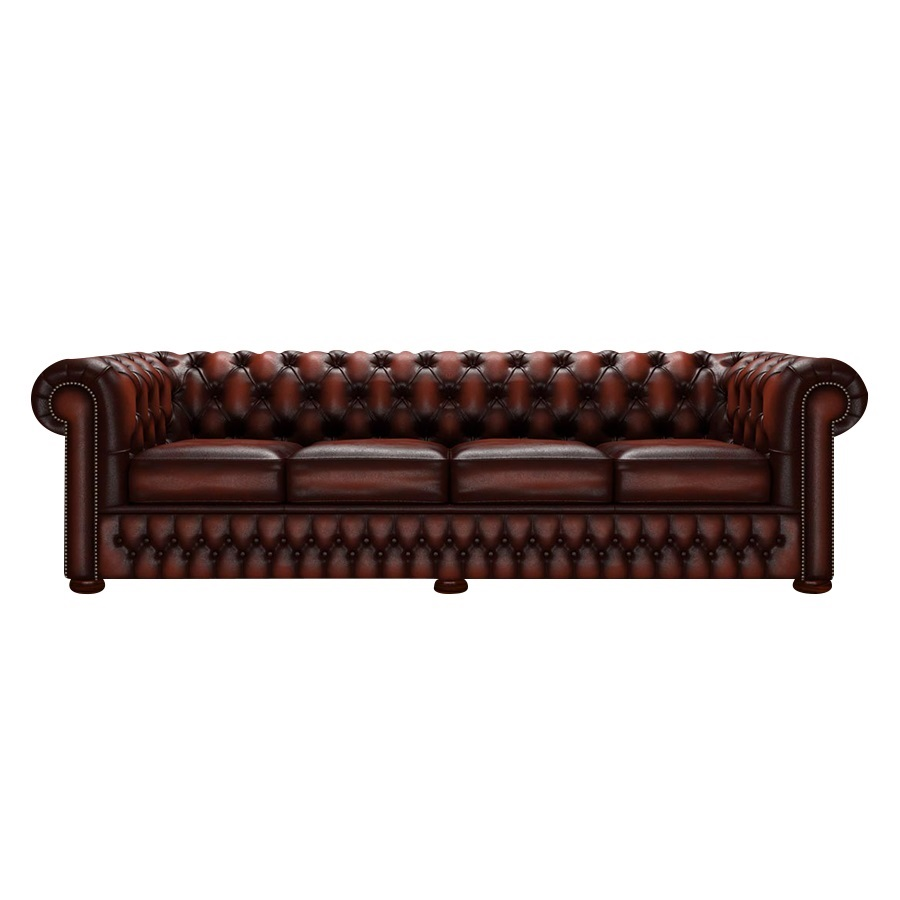 CHESTERFIELD CLASSIC 4-SITS ANTIQUE CHESTNUT