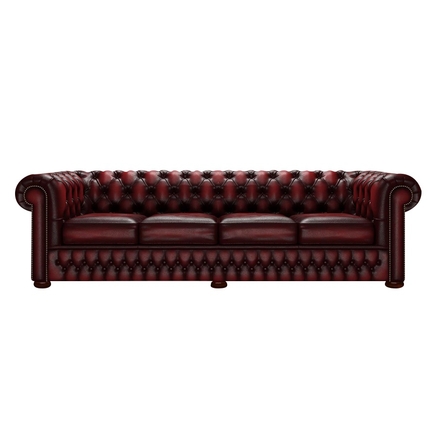 CHESTERFIELD CLASSIC 4-SITS ANTIQUE RED