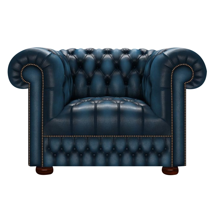 CROMWELL CHESTERFIELD FÅTÖLJ ANTIQUE BLUE
